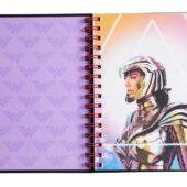 DC Comics Wonder Woman 1984 Hardcover Spiral Notebook with Foldout Sticker Sheet