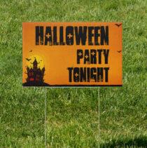 Castle Keep Halloween Horror 18 x 12 Yard Sign Party Tonight Version 2