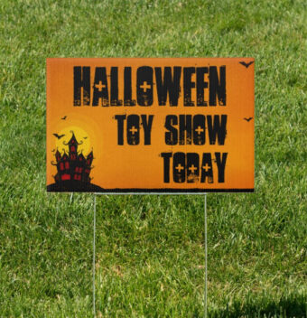Castle Keep Halloween Horror 18 x 12 Yard Sign Toy Show Version 3