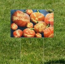 Halloween Pumpkin Enlightenment 18 x 12 Inch Yard Sign