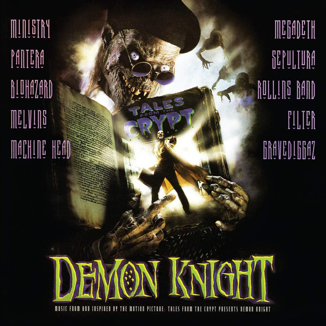 Tales from the Crypt: Demon Knight Soundtrack Clear with Green and Purple Swirl Vinyl