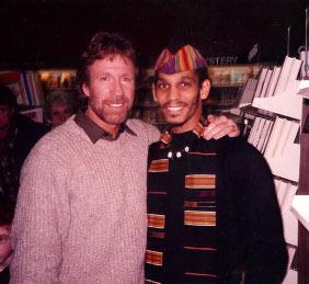 Chuck Norris and Oso Tayari Casel