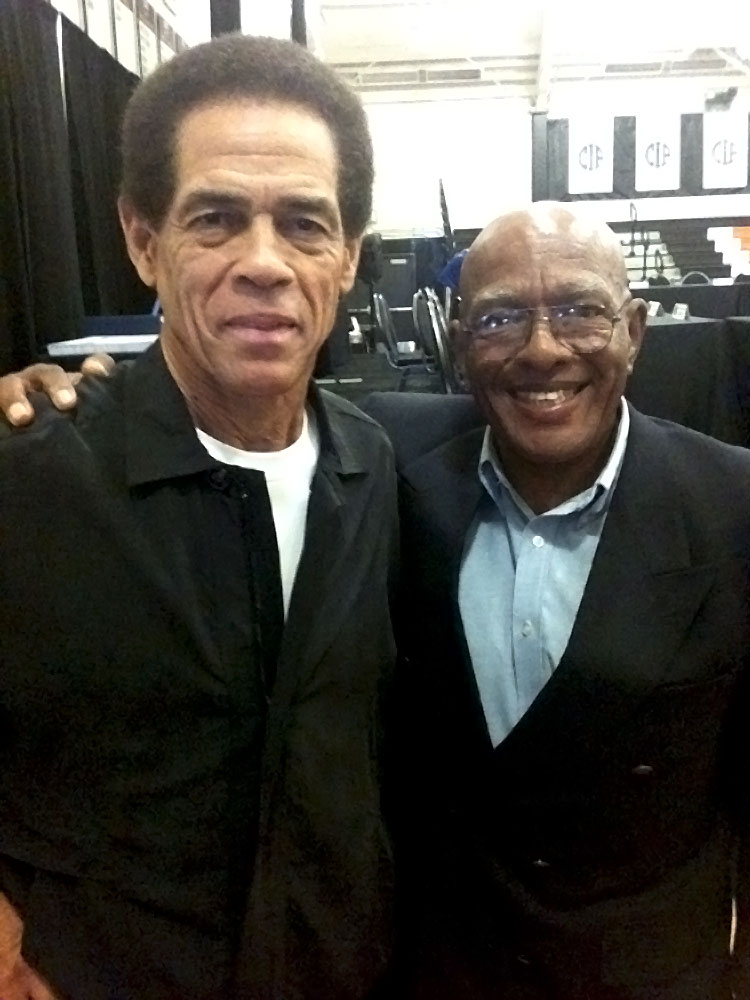 Rare shot of Ron Van Clief and Jim Kelly together