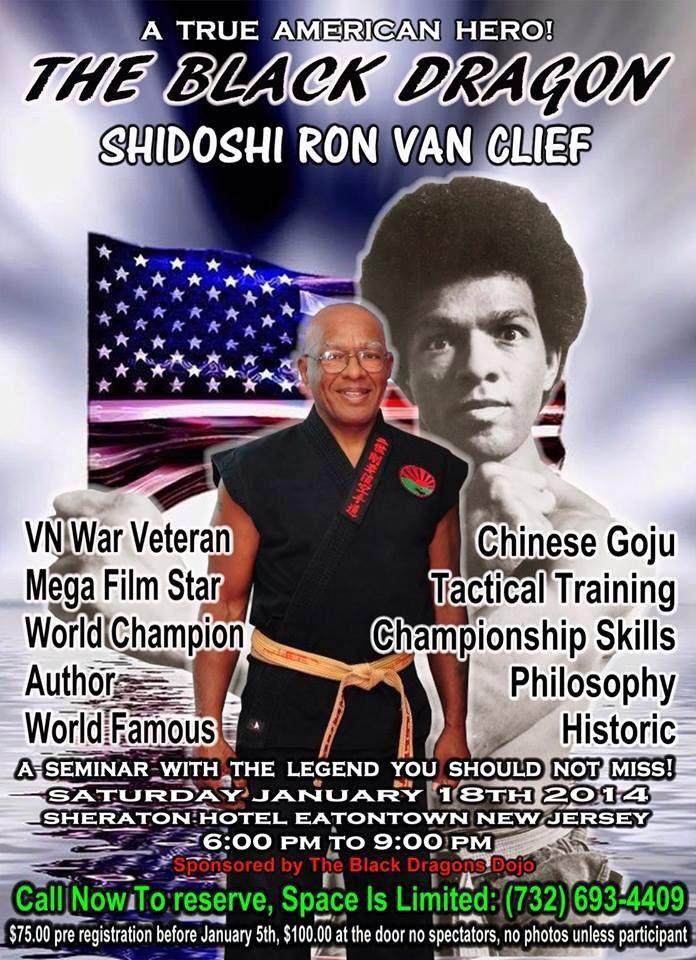 Shidoshi Ron Van Clief The Black Dragon training seminar