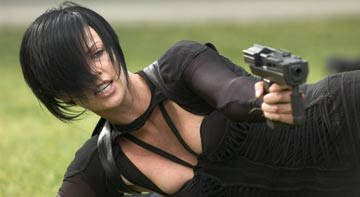 Click here to see an exclusive preview of the Aeon Flux comic and the latest photos of Charlize Theron